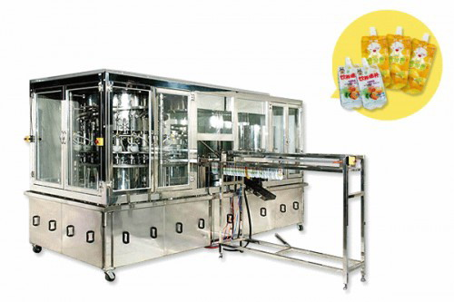 PASU-20F Auto Preform Pouch Filling and Capping Machine